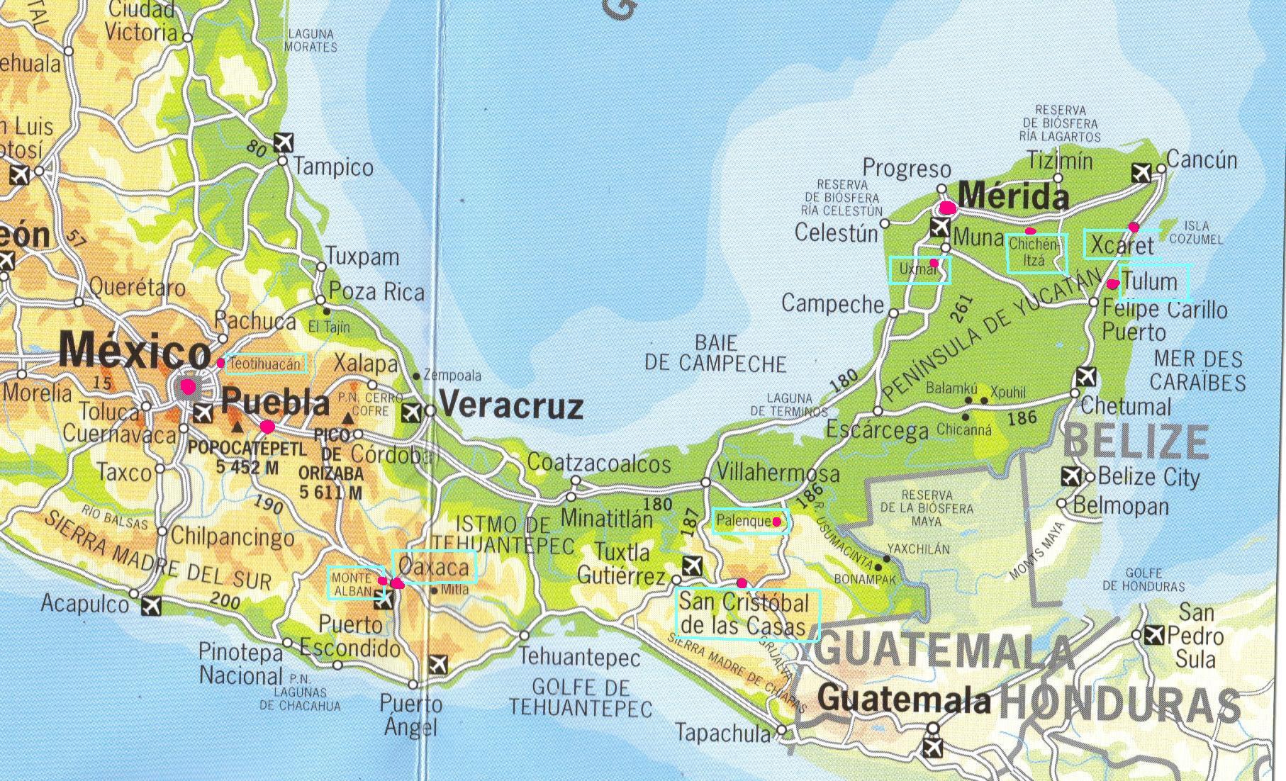 Carte Mexique Touristique.Carnet De Voyage Au Mexique